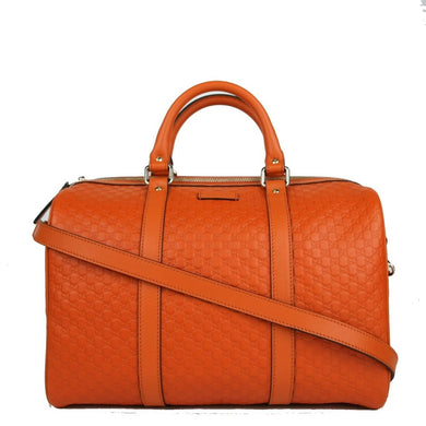 Gucci Microguccissima Orange Leather Dome Boston Bag