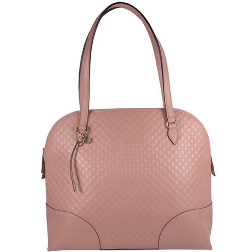 Gucci Microguccissma Light Pink Solf Calf Leather Medium Dome Handbag Tote
