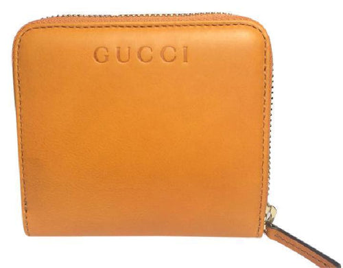 Gucci Women's Marigold Yellow Soft Leather French Flap Wallet Small