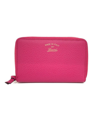 Gucci Women's Blossom Pink Italian Leather Small Swing Wallet