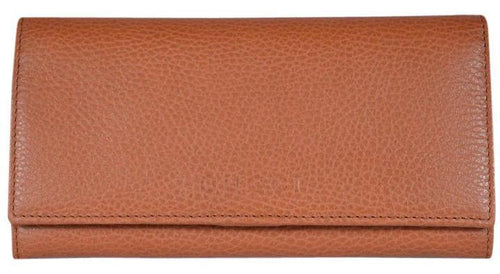 Gucci Women's Dollar Calf Pebbled Leather Continental Flap Wallet Saffron