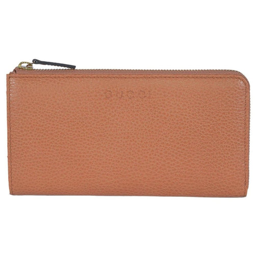 Gucci Women's Classic Saffron Leather Zip Luxury Wallet
