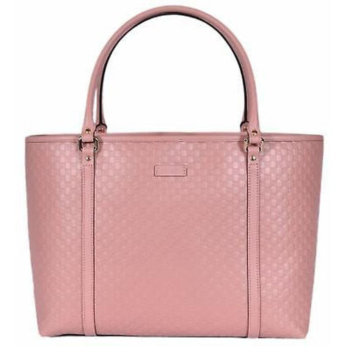Gucci Women's Light Pink GG Microguccissima Soft Calf Leather Joy Shopping Tote