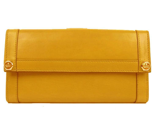 Gucci Women's Marigold Leather Continental Flap Wallet Large