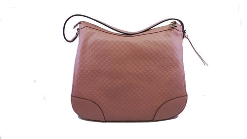 Gucci Women's Microguccissma Soft Pink Leather Medium Bree Handbag