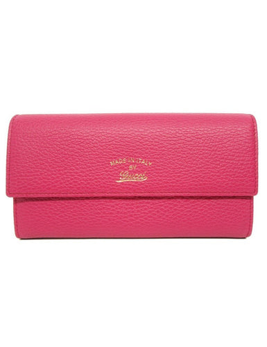 Gucci Women's Swing Blossom Pink Continental Flap Wallet Large