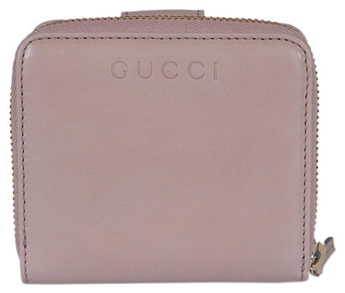 Gucci Women's Classic Washed Soft Pink French Flap Luxury Wallet Small