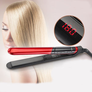 Hair Straightener Comb Beauty Care Flat Iron with LCD Display