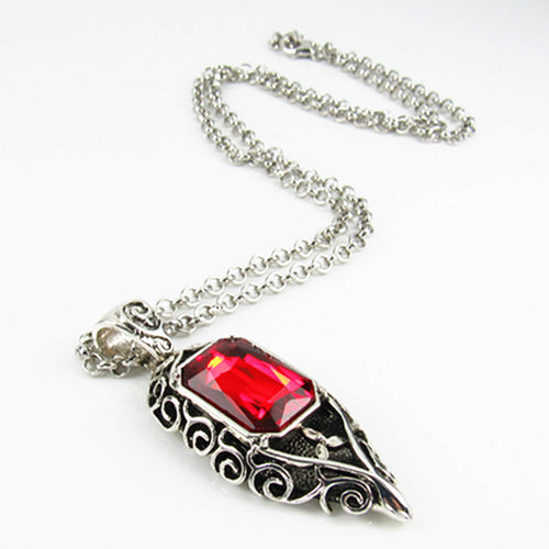 New Jewelry Shadow Necklace Red Glass Pendant