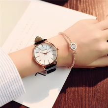 Load image into Gallery viewer, Polygonal Dial Design Women Watches Luxury Quartz Leather Wristwatch