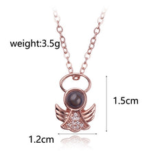 Load image into Gallery viewer, Women's Crystal Classic Pendant Necklace/Charm Necklace, Lovely Rose Gold Silver Necklace Jewelry