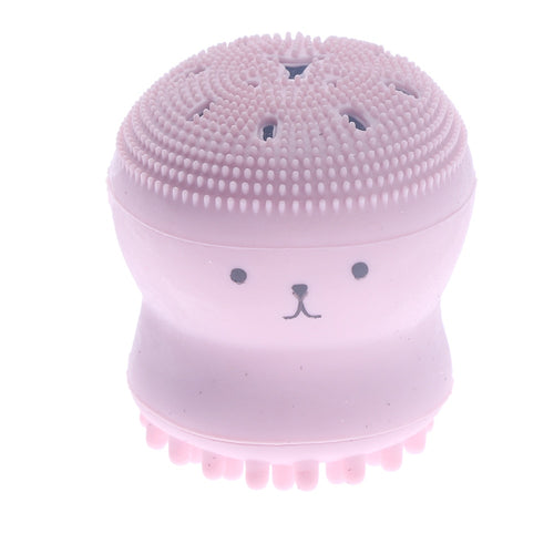 Facial Cleaning Brush, Silicone Face Brush and Massages with Lovely Cute Octopus Design
