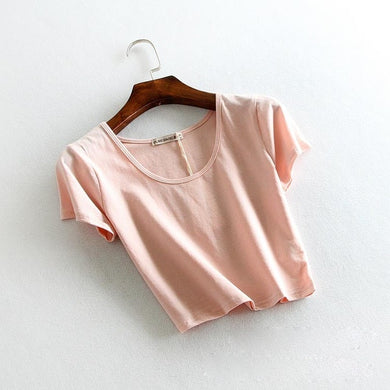 #07 DIY Women Crop Tops (6 Colours)