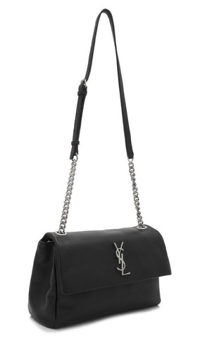 Saint Laurent Classic Monogramme Medium West Hollywood Bag Black Leather