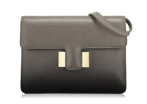 Tom Ford Large Patent Grey Leather Shaded Calf Sienna Shoulder Bag