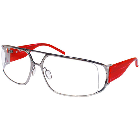 christian-roth-optical-eyeglasses-marie-claire-in-silver-with-red-temples-titanium-luxury-eyewear