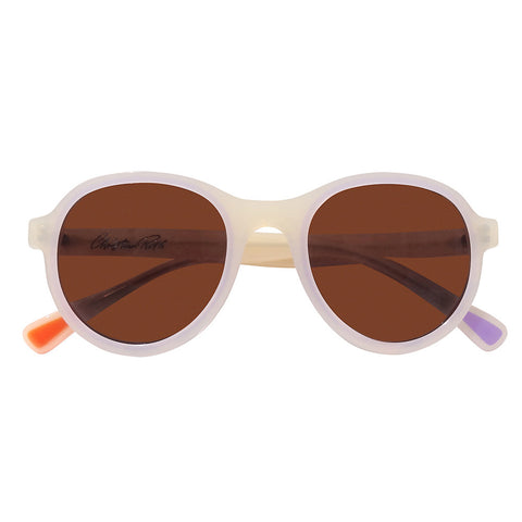 Christian Roth Sunglasses 2014 Cortina in Ivory Beige With Milky Lavender Touch front