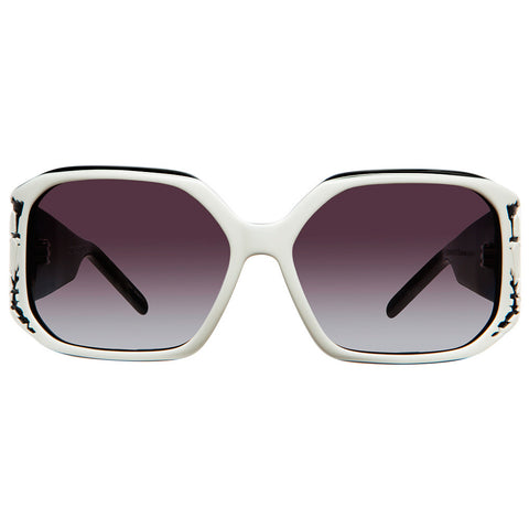 Christian Roth Sunglasses - Embrace Lace - in white on black