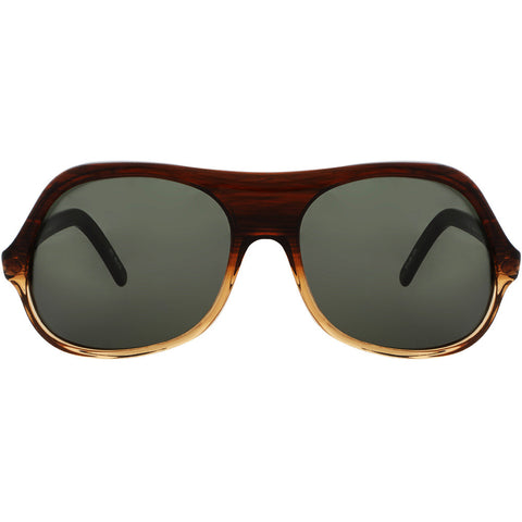 Christian Roth Sunglasses - Hot Spot - in brown marble graduated front