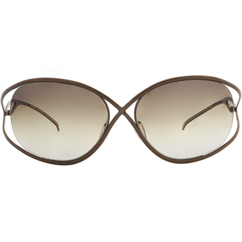Christian Roth X-treme in brown front – iconic titanium sunglasses Tom Ford got inspired