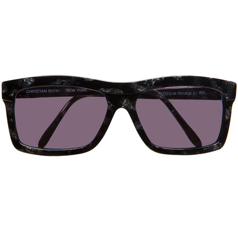 Christian Roth vintage black marble sunglasses