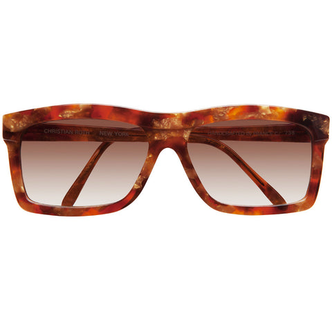 "Christian Roth Sunglasses for Optical Affairs ""Series C"" in Amber Marble"