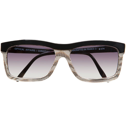 Christian Roth vintage black and lizard patterned sunglasses
