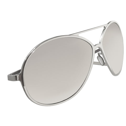 Christian Roth Titanium Mirrored Sunglasses - The Aviator - in Silver