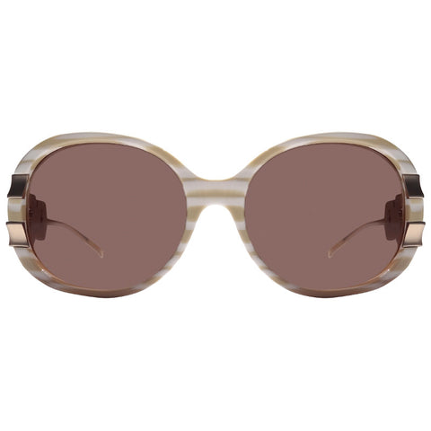 Christian Roth Sunglasses Belles of Embellishments in shades of beige front