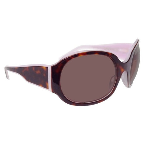 Christian Roth Sunglasses  Graphic Content in tortoise on lavender right side