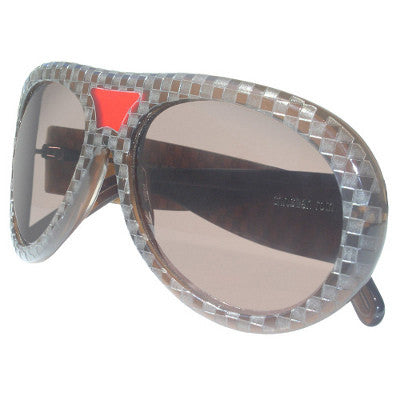 Christian Roth Sunglasses - Leon - in brown with red for good luck