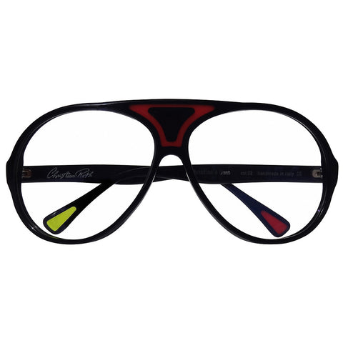 Christian Roth Optical Eyeglasses Christian's Own in Black with Red Touch