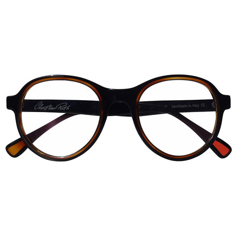 Christian Roth Optical Eyeglasses 2014 Cortina in Black with Brown Touch
