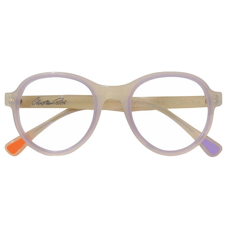 Christian Roth Optical Eyeglasses 2014 Cortina in Ivory Beige with Milk Lavender Touch