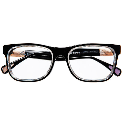 Christian Roth Optical Eyeglasses - 2015 - C for Carlos - in black with rose pearls inserts and temples - a touch of  lavender