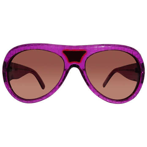 Christian Roth Sunglasses - Bridge Port - in purple Checkers front