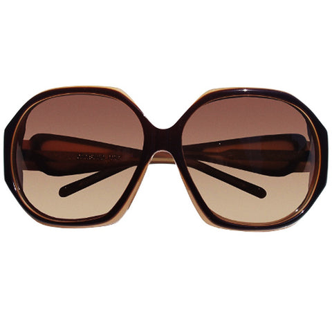 Christian Roth Sunglasses V.ery I.mportant P.rotection in mocha brown and camel front