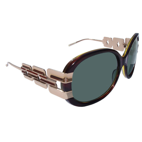 Christian Roth Sunglasses  Belles of Embellishments in dark amber with gold sides right