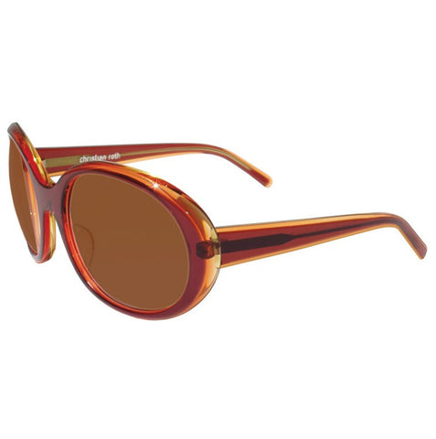 Christian Roth Sunglasses - Shopping Fever - in pale yellow & plum transparent left