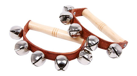 Jingle D - bell rattles with D-shaped wooden handles. - Sound For Health