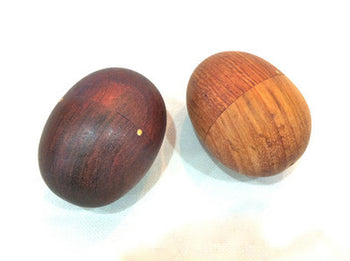 EGG SHAKERS - WOODEN PERCUSSION - NICE CLEAN SOUND - SUPERIOR ROSEWOOD PAIR - Sound For Health