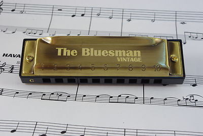 Bluesman Vintage Harmonica in C - Sound For Health