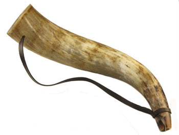 Ceremonial Horn - real horn trumpet. Bull horn, Ox horn. Viking horn. - Sound For Health