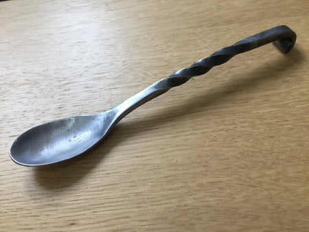 Hand forged reenactors metal spoon.