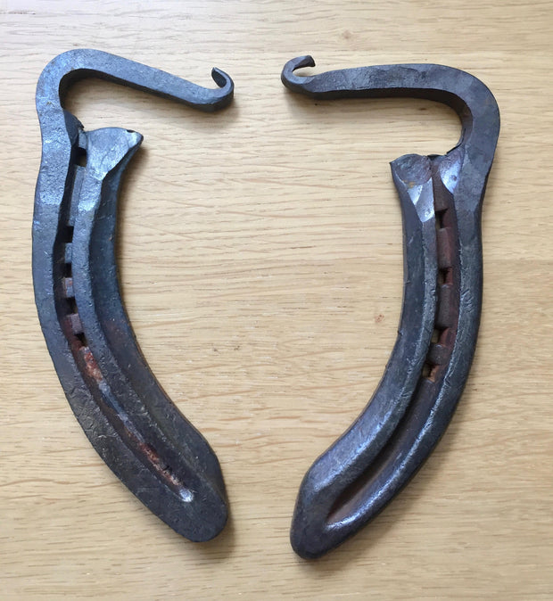 Bottle openers recycled from old horse shoes - blacksmith forged