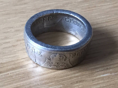 Coin rings - real UK silver coin ring