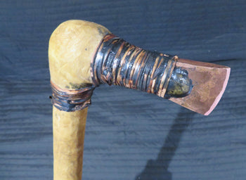 Otzi axe replica. Copper hand axe