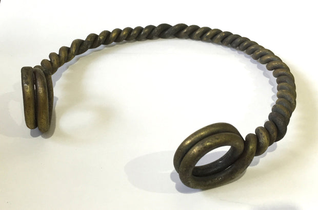 Celtic Iron Age - twisted neck Torc. Hand-forged for reenactors.