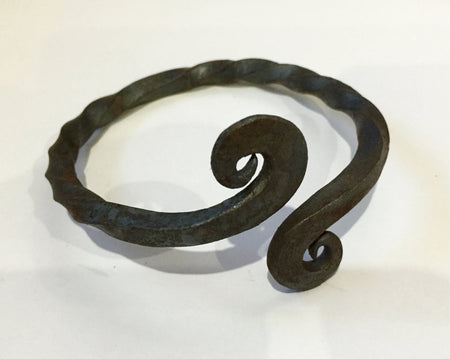 Celtic Iron Age - twisted 'Warrior' arm ring. Hand-forged for reenactors.