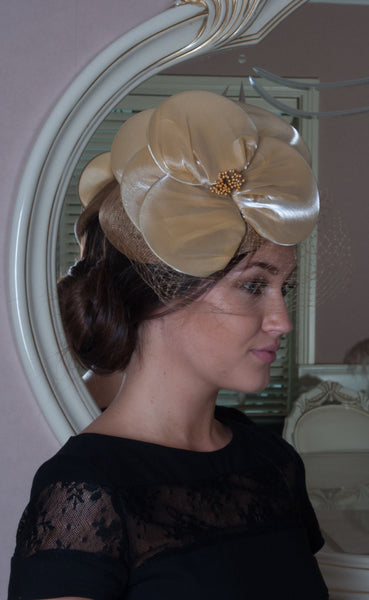 Emma Gold Colour Fascinator - LadyVB   s.r.o - 1